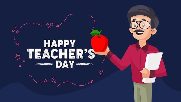 Modello di progettazione banner happy teachers day