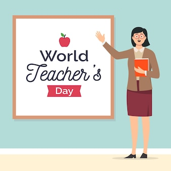 Illustrazione felice del giorno degli insegnanti