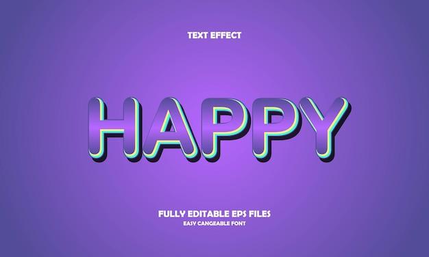 Effetto testo felice