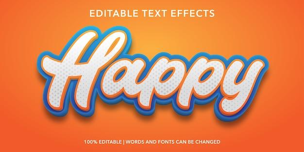 Effetto testo modificabile in stile testo felice