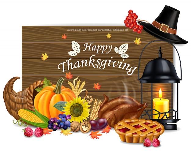 Felice carta di ringraziamento