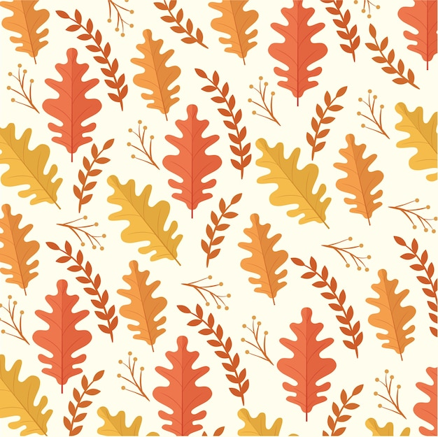 Scheda felice di celebrazione di ringraziamento con progettazione dell'illustrazione del modello dei fogli di autunno