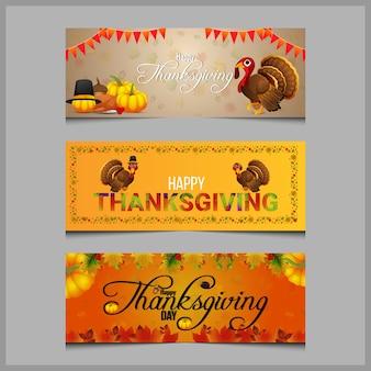 Felice giorno del ringraziamento celebrazione banner o intestazione
