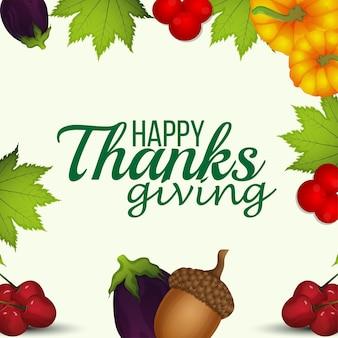 Biglietto di auguri per la celebrazione del giorno del ringraziamento felice