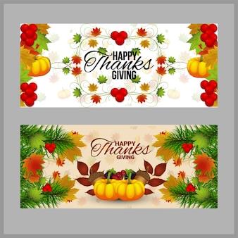 Fondo creativo felice di giorno del ringraziamento con la zucca