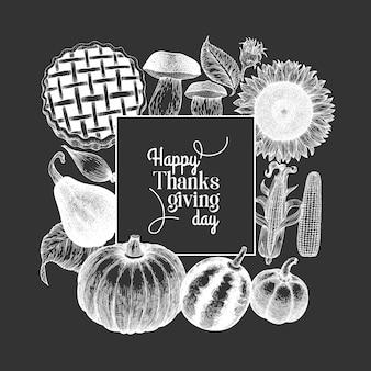 Modello di felice giorno del ringraziamento.