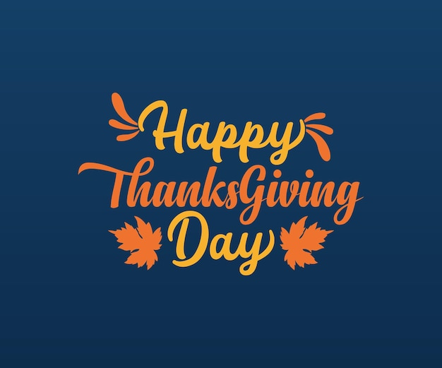 Iscrizione di tipografia vettoriale felice giorno del ringraziamento