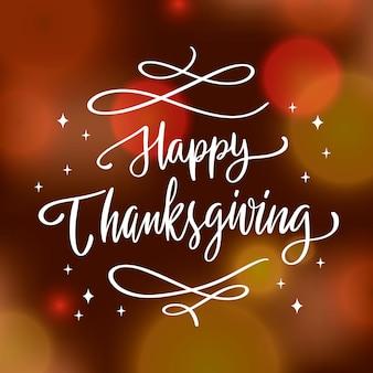 Lettering felice del ringraziamento
