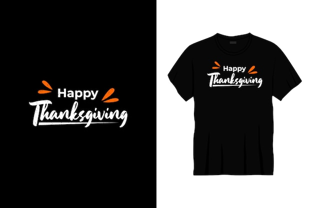 Felice design della maglietta di tipografia del ringraziamento