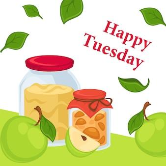 Buon martedì, marmellata di mele o dolce alla marmellata