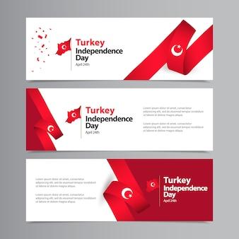 Felice modello di celebrazione del giorno dell'indipendenza della turchia
