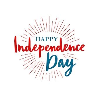 Buona festa dell'indipendenza degli stati uniti