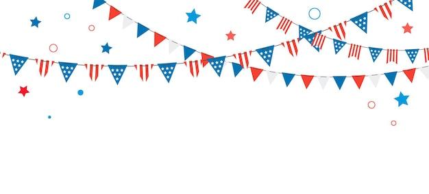Felice giorno dell'indipendenza degli stati uniti 2 luglio banner