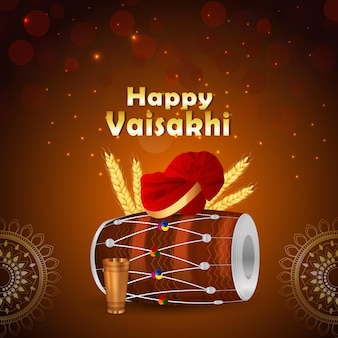 Felice celebrazione del festival punjabi vaisakhi