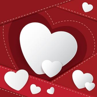 Buon san valentino banner design. illustrazione vettoriale