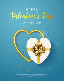 Buon san valentino. banner, flyer, poster, biglietto di auguri