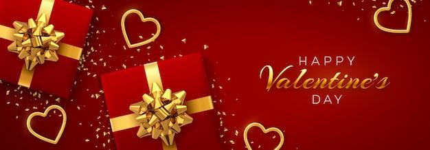Felice modello di banner di san valentino