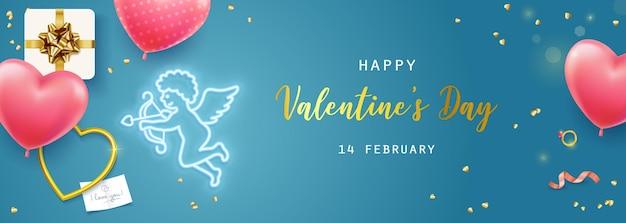 Felice banner di san valentino