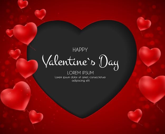 Buon san valentino card con cuore.