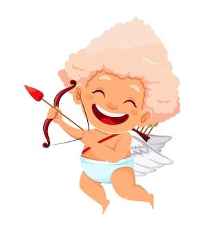 Buon san valentino concetto con carino divertente cupido angelo