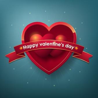 Buon san valentino elementi di design per poster o cartolina d'auguri.