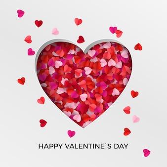 Fondo felice della cartolina d'auguri di san valentino