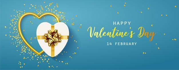 Felice banner orizzontale di san valentino