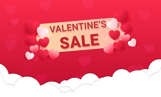 Banner di promozione di san valentino felice