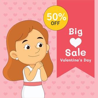 Buon san valentino in vendita in design piatto