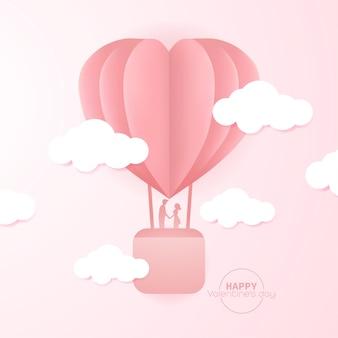 Illustrazione dolce di san valentino felice.