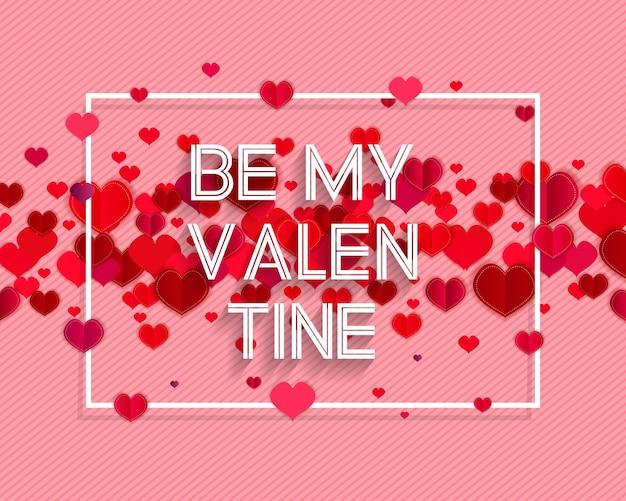 Testo di san valentino felice come distintivo / icona del logotipo di san valentino.