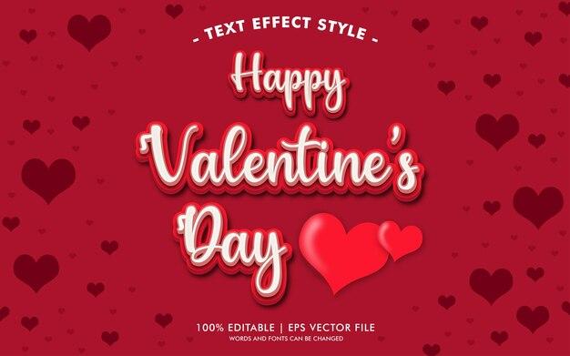 Stile di effetti del testo di san valentino felice
