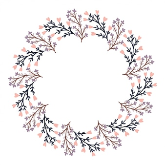 San valentino felice con il vettore della corona del fiore.