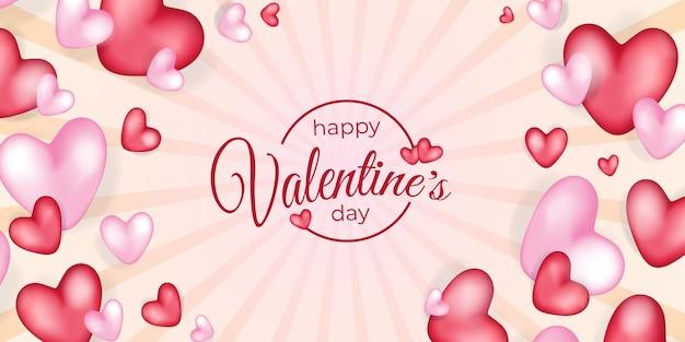 Felice giorno di san valentino sfondo illustrazione design