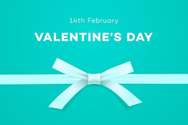 Felice giorno di san valentino banner dolce sfondo blu tiffany