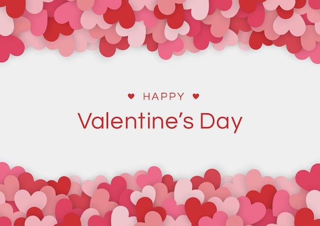 Felice giorno di san valentino carta