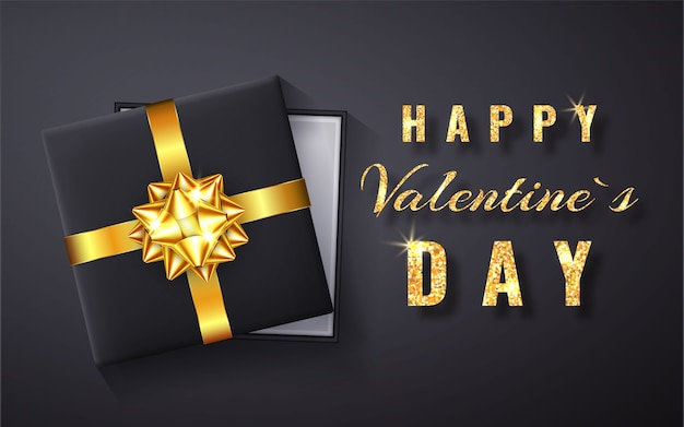 Buon san valentino scintillio dorato di scintillio