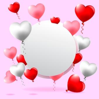 Cartolina d'auguri felice di san valentino, illustrazione