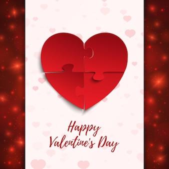 Buon san valentino, modello di biglietto di auguri
