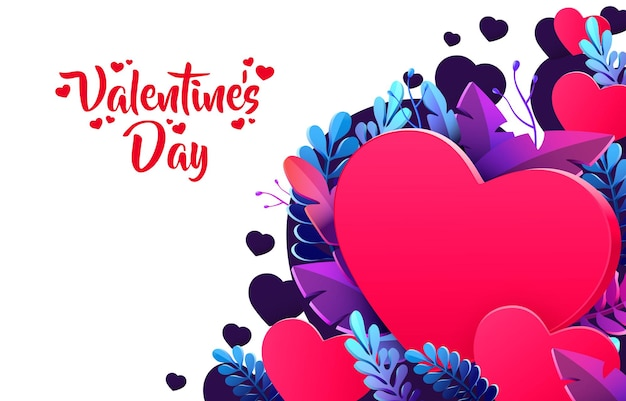 Illustrazione felice di progettazione di saluto di giorno di biglietti di s. valentino