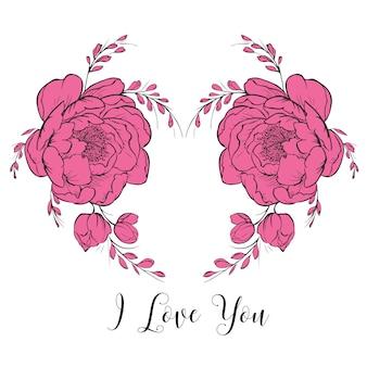 Felice giorno di san valentino cuore cornice