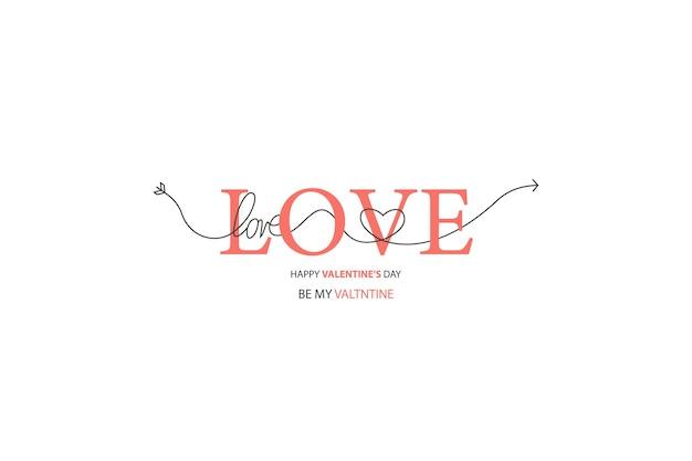 Felice giorno di san valentino scritte isolato