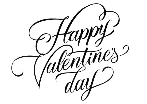 Felice giorno di san valentino lasciando la cartolina