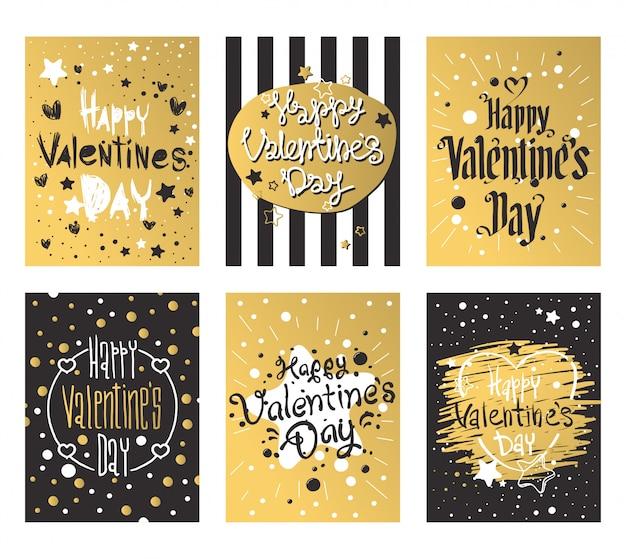 Felice giorno di san valentino e progettazione di carte sarchiatura
