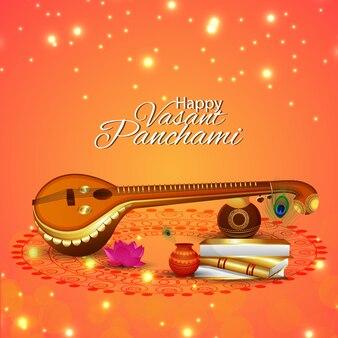Felice celebrazione vasant panchami