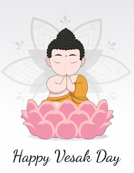 Felice vesak budha purnima day vector background