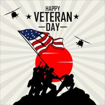 Happy veteran day illustrazione pronto formato eps 10