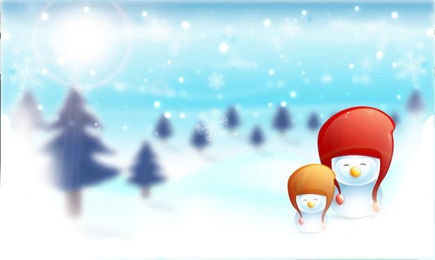 Sfondo di inverni felici.