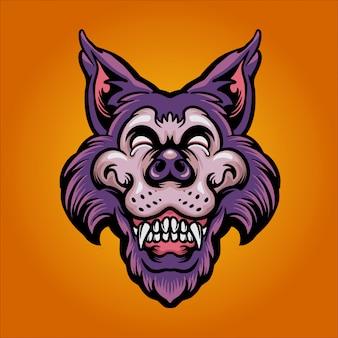 Illustrazione di lupo felice