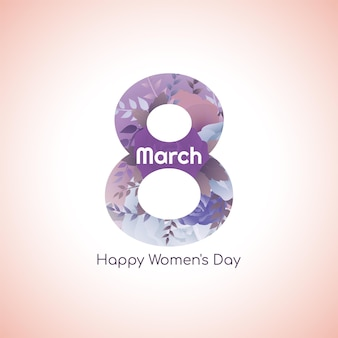 Fondo di progettazione del fiore dell'8 marzo del giorno della donna felice